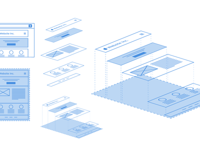 Website Inc. blueprint illustration