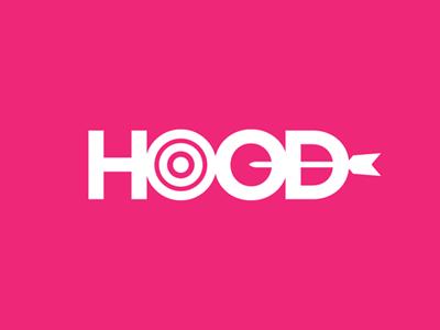 Hood pink logo hood app type