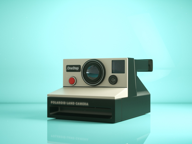 Polaroid Camera CGI polaroids lens retro camera polaroid octane istanbul modelling illustration design 3d cinema4d art