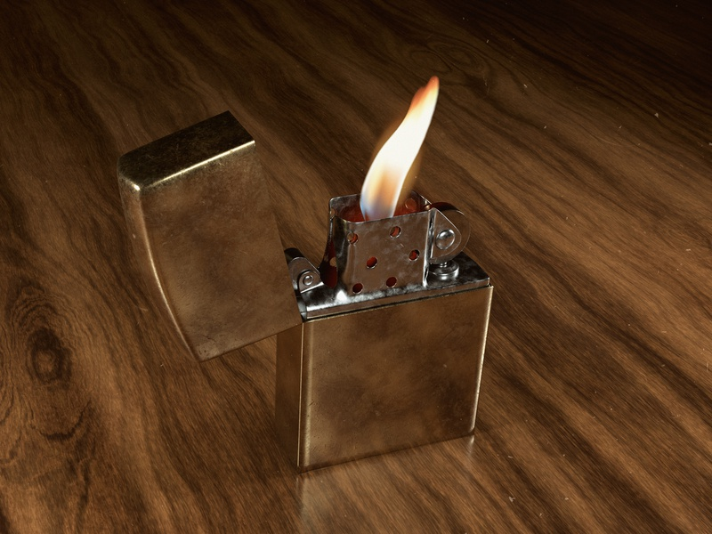 Zippo Lighter CGI by Eray kasarcı on Dribbble