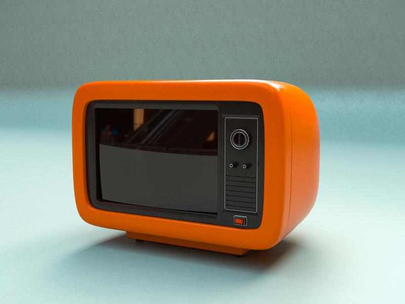 Retro TV cgi television retro glass cinema movie gold film istanbul modelling illustration design 3d cinema4d art