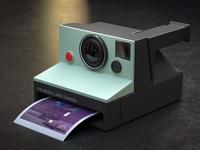 Polaroid Camera and Card CGI