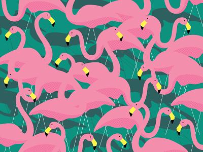 Pink Flamingos vector ornament lawn flamingos pink illustration