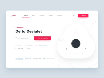 Product launch page layout black red product page clean shape webdesign vector illustration ux ui design web product launch
