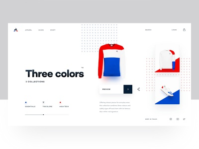 Product page sport ecommerce shirt fashion light ux ui product web design web webdesign layout shop homepage home blue red website brand t-shirt