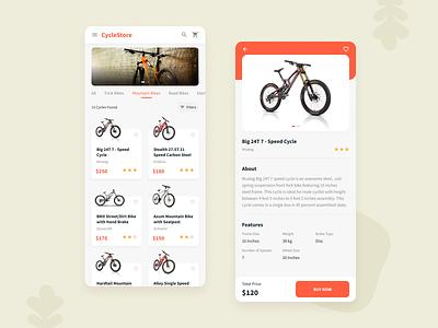 Cycle E-commerce Shop idea creative branding inspiration trending book cycle cycle app ecommerce design ui design mobile app design app concept mobile application store cycle