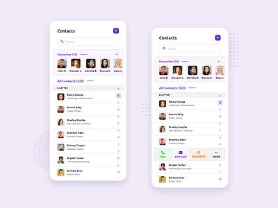 Mobile Contacts App idea ui ux inspiration trending branding elegant clean creative iosapp androidapp mobile app ui design