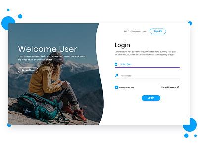 Login page design idea inspiration creative web design login