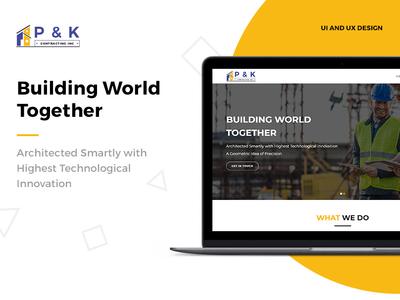 P & K Construction: UI & UX Design trends 2019 web trends logo design ux designer ui  ux design ux ui inspiration