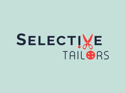 Selective Tailors Logo Design creative inspiration logo design concept shop tailor trending fashion apparels garments logo design branding logo design
