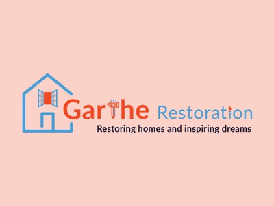 Garthe Restoration Logo Design
