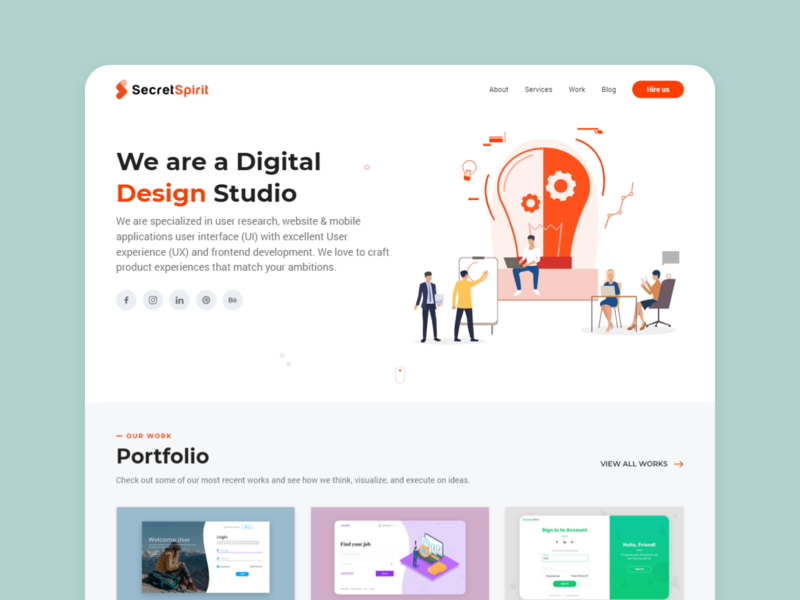Secretspirit : Landing page design illustration typography branding ui trending idea creative userinterface user experience ux design ui design landingpage webdesign