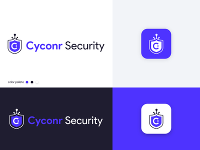 Cyconr Security - Logo Design app icon vector icon digital internet of things iot cybersecurity cyconr brand identity logo design branding logo design cyber security