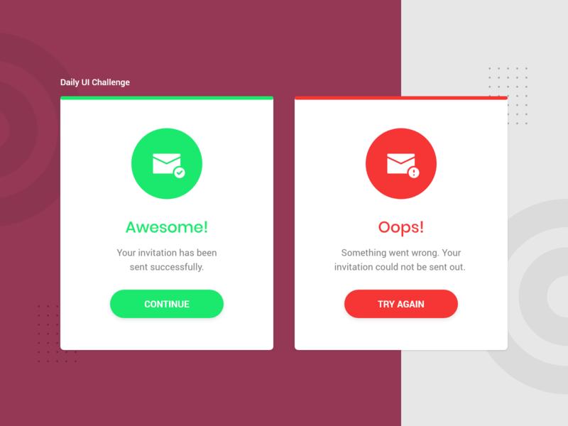 Daily UI Challenge - Flash Messages uiux trending ui ui inspiration error message success message flash message ui design dailyui