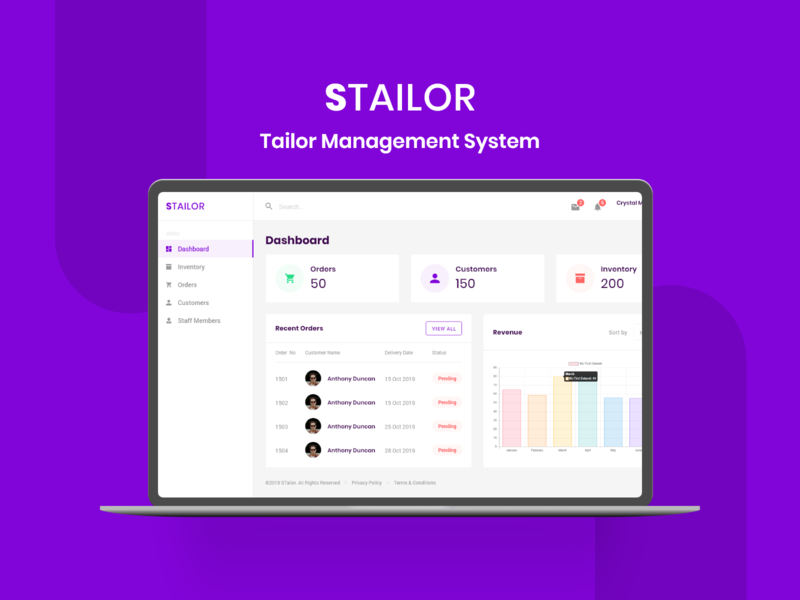 Tailor Management Web App Design web design ui design ui ux trending professional design design inspiration management tool admin panel web app design