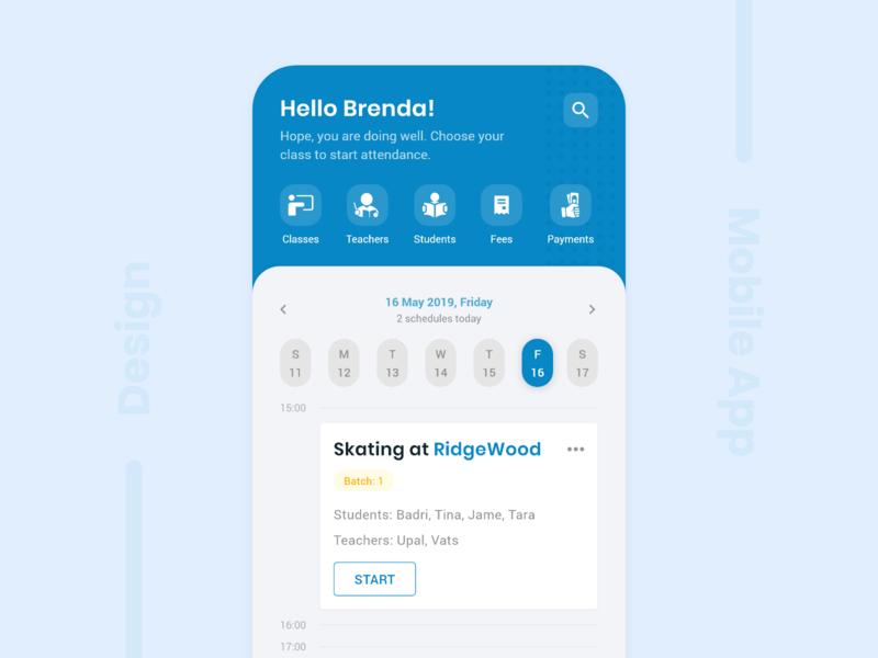 Lecture Schedule | App Design ui design mobile app design ui creative inspirations trending ui mobile ui app ui app inspiration app design mobile app tution app academy app