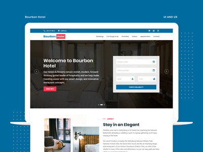 Hotel Room Booking | Bourbon Hotel trends 2020 landing page homepage design creative book hotel ui design inspiration ui ux booking service room booking concept hotel room booking
