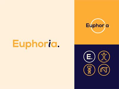 Euphoria Osteopaths Logo branding typography logo design