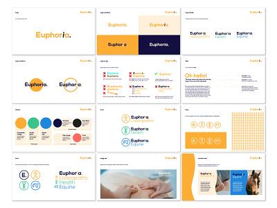 Euphoria Osteopaths brand outline typography logo design branding