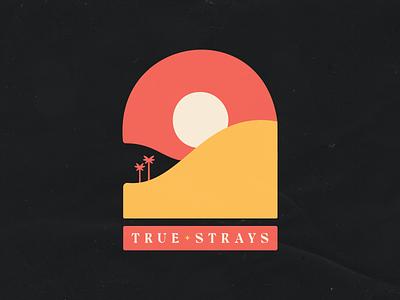 True Strays tee design branding icon vector typography band merch tshirt band logo design line art illustrator illustration