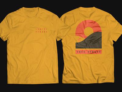 True Strays t-shirt band band merch icon vector typography branding design line art illustrator illustration