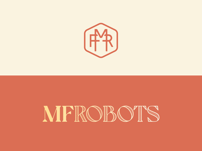 MF Robots logo & monogram