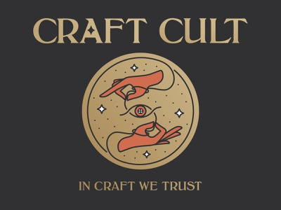 Craft Cult emblem cosmic tarot vector uk typography logo branding line art illustrator illustration sex bag occult cult craft