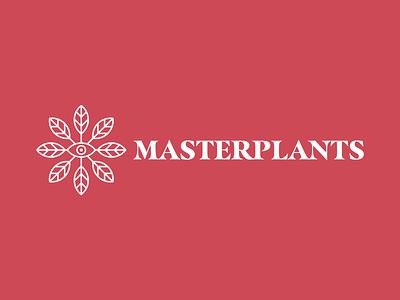 Masterplants logo typography design branding illustrator illustration