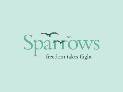 Sparrows support women refugees charity sparrows typography logo line art design branding illustrator illustration