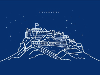 Edinburgh Castle illustrator line art castle edinburgh illustration