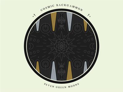 Laser cut cosmic backgammon board