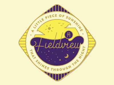 Fieldview Festival enamel pin badge