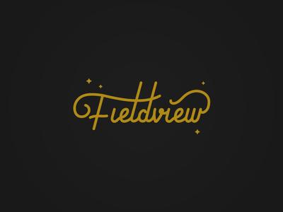 Fieldview script logo