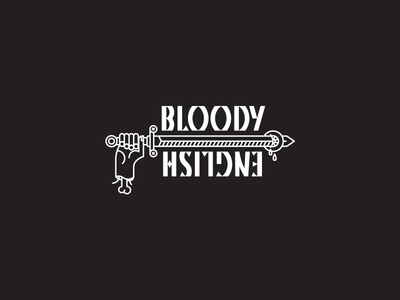 Bloody English Card t-shirt front