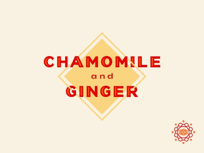 Fitch Brew Co. sparkling tea chamomile & ginger icon design typography vector line art branding illustrator illustration