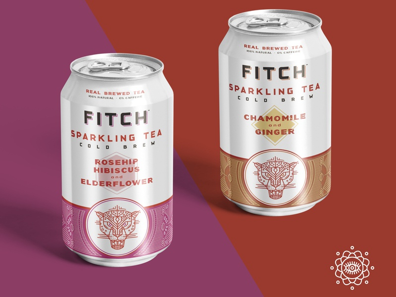 Fitch Brew Co. sparkling tea can design