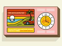 Lightbox clock design for The Breakfast Club, London