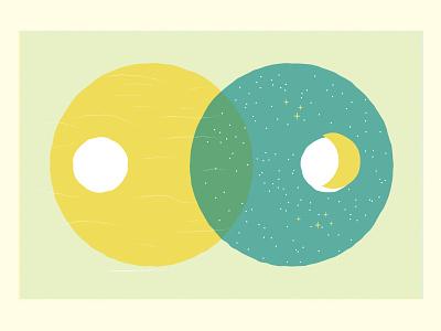 We Watch the Stars layers blending risograph design poems vector illustration spoken word dreamer sun moon sky poetry poem illustrator