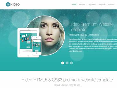 Hideo website template
