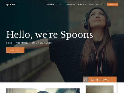 Spoons HTML template