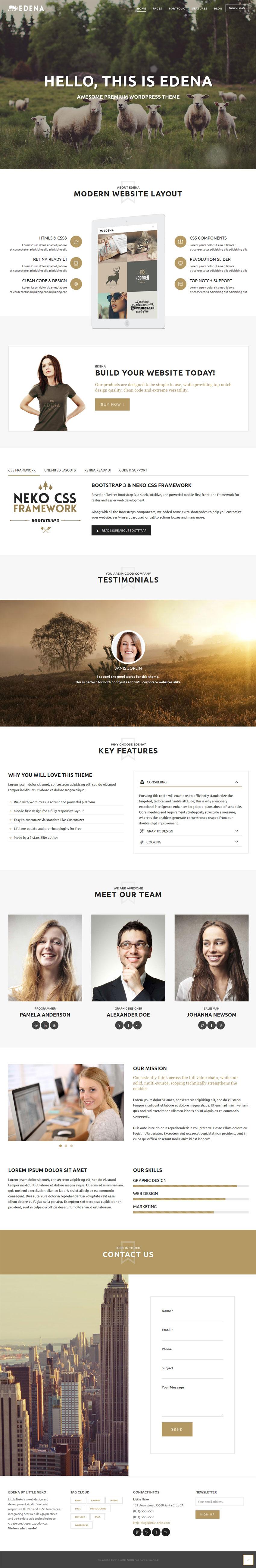 Edena wordpress theme