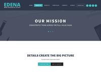 Edena WordPress theme - About us