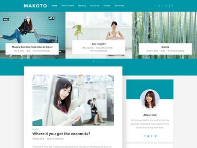Makoto WordPress blog theme