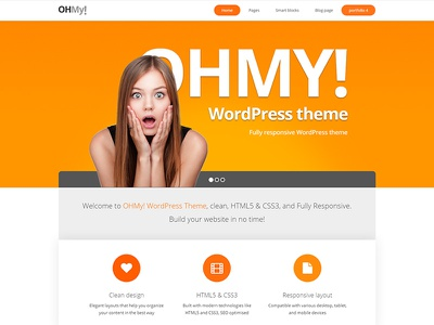 OHMY | Business theme envato themeforest little neko web design business theme wordpress