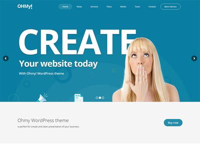 Ohmy WordPress Theme - One Page version envato themeforest little neko web design business theme wordpress