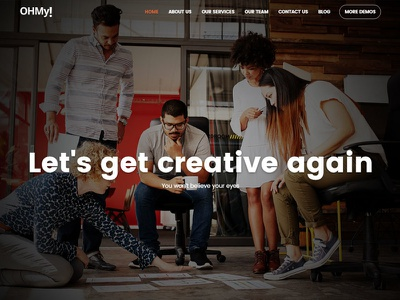 OHMy! Dark theme envato themeforest little neko web design business theme ux ui wordpress