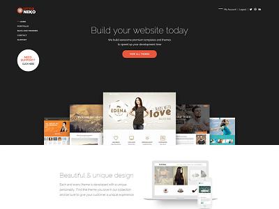New Neko's Website theme shop little neko web design ux ui wordpress