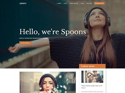 Spoons WordPress Theme envato themeforest little neko web design business theme ux ui wordpress