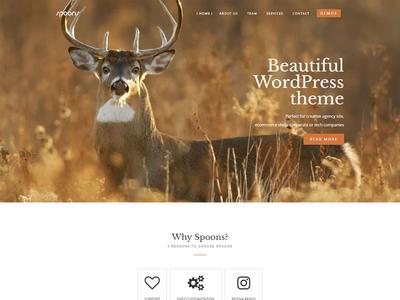 Spoons WordPress Theme envato themeforest little neko web design business theme wordpress