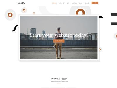 Spoons WordPress Theme business theme wordpress envato themeforest little neko ux ui web design